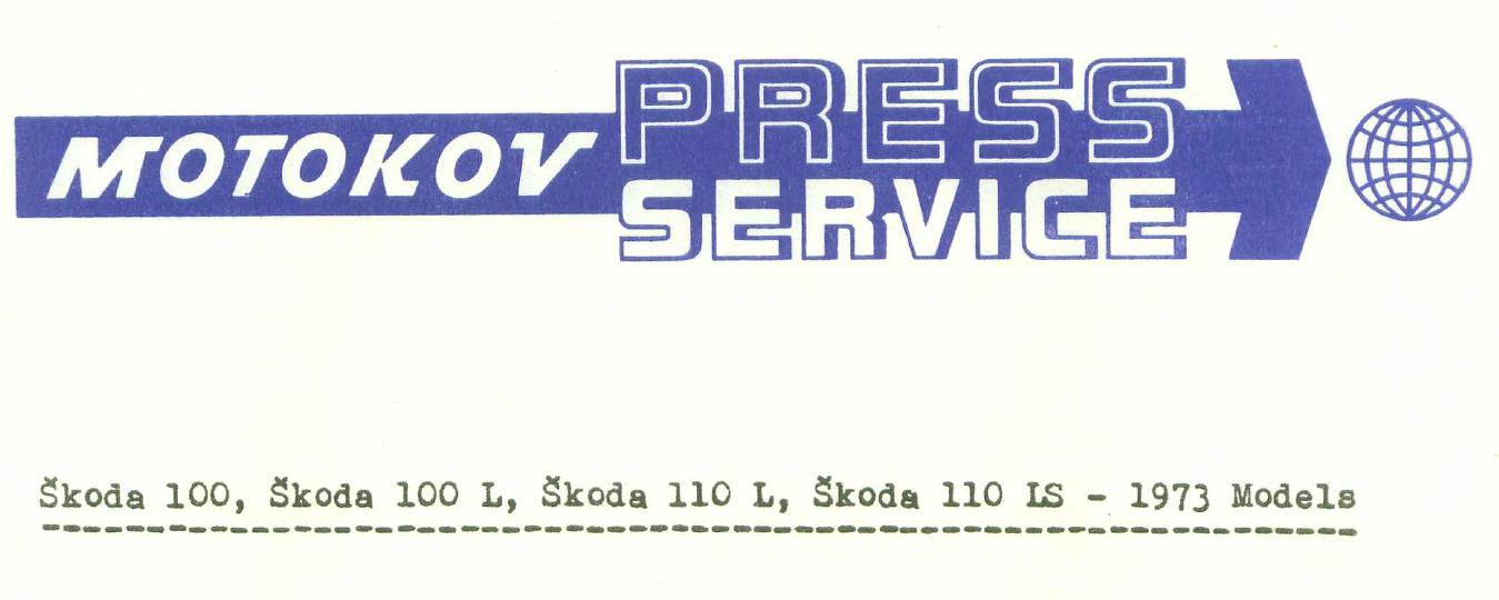 Skoda 100, Skoda 100 L, Skoda 110 L, Skoda 110 LS - 1973 Models