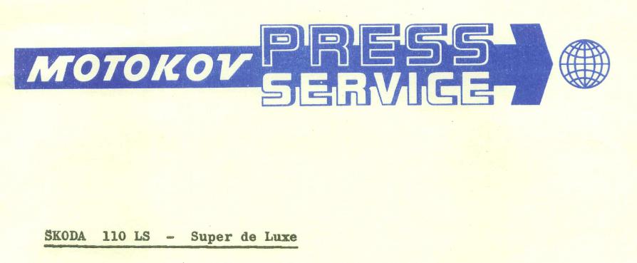 Skoda 110 LS - Super de Luxe