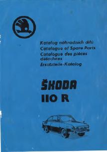Ersatzteilkatalog Skoda 110R